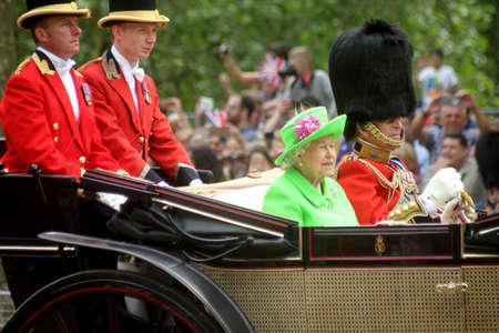 HM Queen Elizabeth II & HRH Prince Phillip in The Mall Editorial