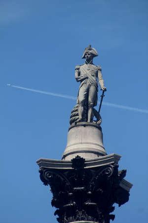 Nelsons Column London England Фото со стока