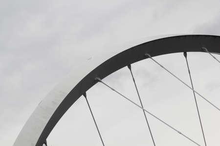 glasgow: Millennium Bridge Glasgow Scotland Stock Photo