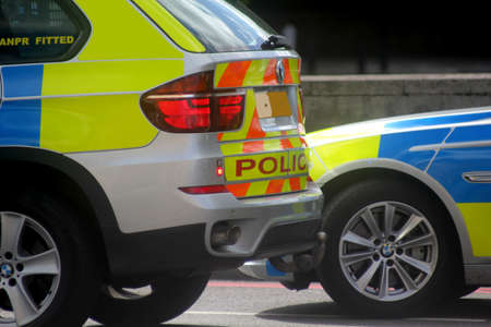British Police Scene London England