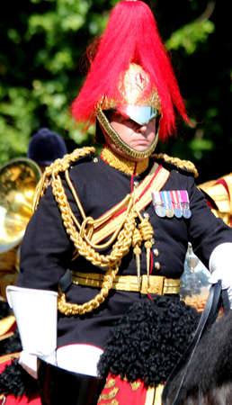 17th: London England 17th June 2017 The Director of Music of The Household Cavalry Band During Trooping The Colour