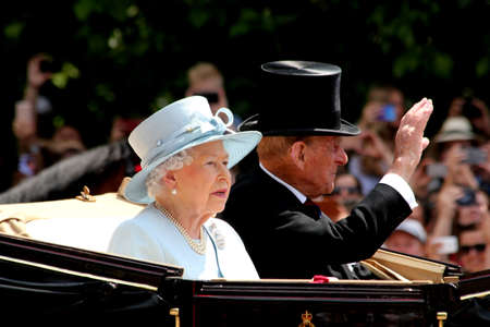 HM Queen Elizabeth II & HRH Prince Phillip London England