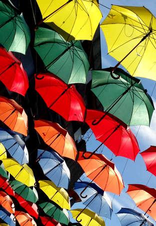 Abstract Umbrellas Kingston Upon Thames Surrey London England
