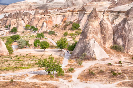 fireplaces: fireplaces of fairies in cappadocia in a sunny day of summer in Turkey