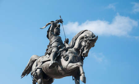 bronz: Caval ëd Bronz in a beautiful perspective in a sunny day in Turin, Italy
