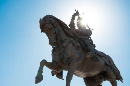 bronz: Caval ?d Bronz in a beautiful perspective in a sunny day in Turin, Italy Stock Photo