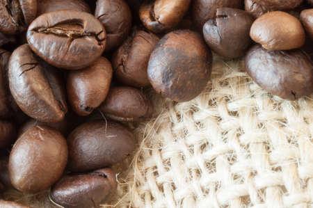 breathable: bellissimo sfondo di macro di caff� con iuta