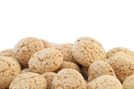 triglycerides: Macarrones cookies en fondo blanco Foto de archivo