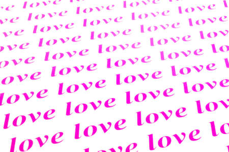 times new roman: beautiful background of love word Stock Photo
