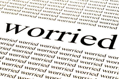 times new roman: conceptual background of worried situation Stock Photo