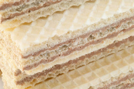beautiful macro and details of traditional hazelnuts wafer photo