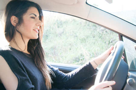 undisciplined: a sleepy female driver that drive his car