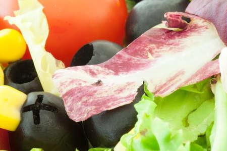 dietetic: beautiful background of dietetic and fresh mediterranean salad