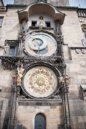 astronomical: astronomical clock of Prague in a sunny day Stock Photo