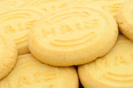 mais: beautiful macro background of mais cookies Stock Photo