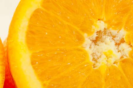 orange peel clove: macro details background of cutted blonde orange