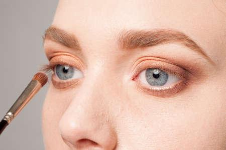 eye make up: beautiful details of eye make up processing