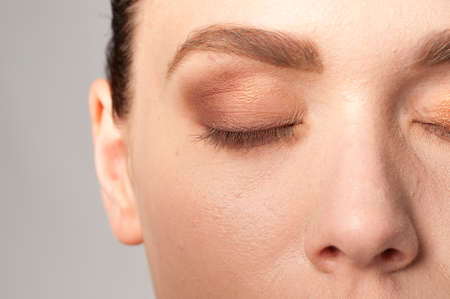 firmeza: bellos detalles de maquillaje de ojos