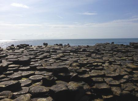 Giants Causeway in Ireland Imagens