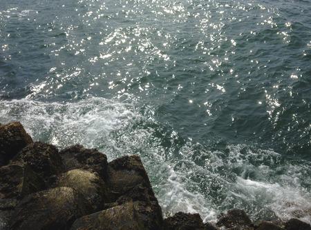 Kust bij de Giant's Causeway in Ierland.