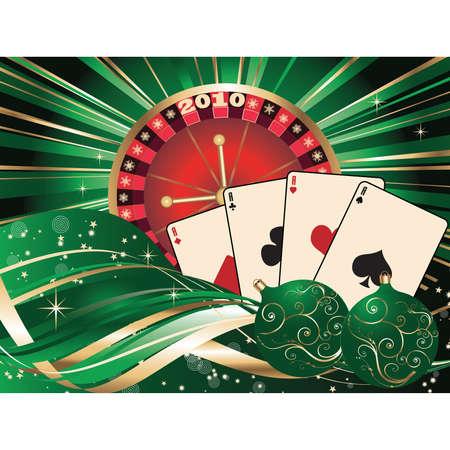 Casino Christmas. Stock Vector - 5628527