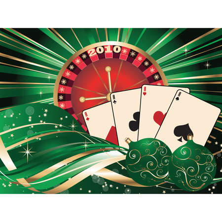 Casino Christmas. Vector