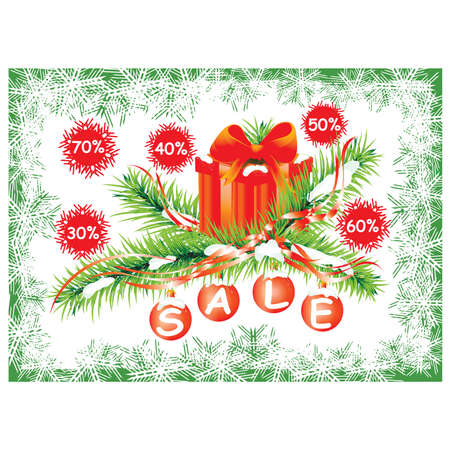 Christmas balls with discount prices. Vector  Vector