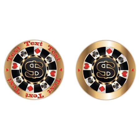 poker chips: Poker chips dollar. Vector