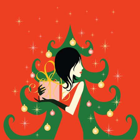Christmas shopping card. vector Vector
