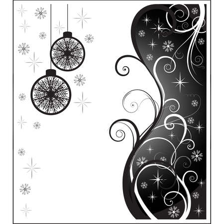 white and blasck christmas card. Vector