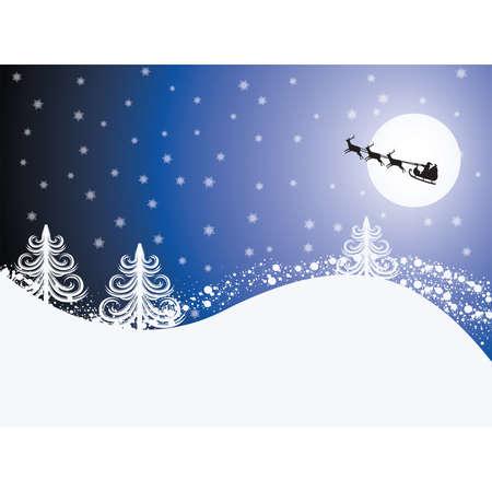 Christmas blue card, vector  Vector