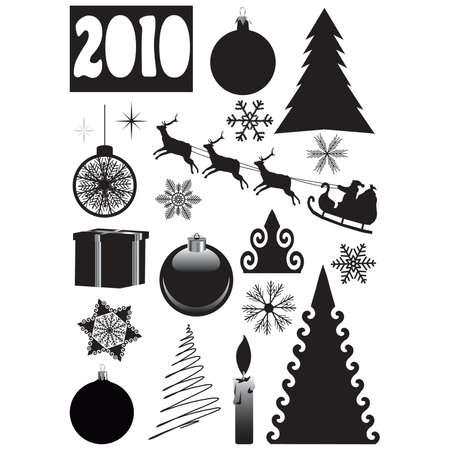 Christmas, New Year's set. vector  Stock Vector - 6002579