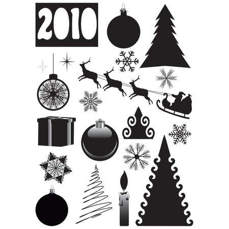 christmas motif: Christmas, New Years set. vector