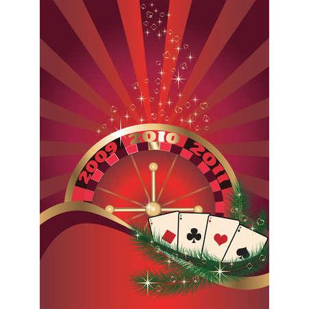 Casino Christmas card. vector Vector