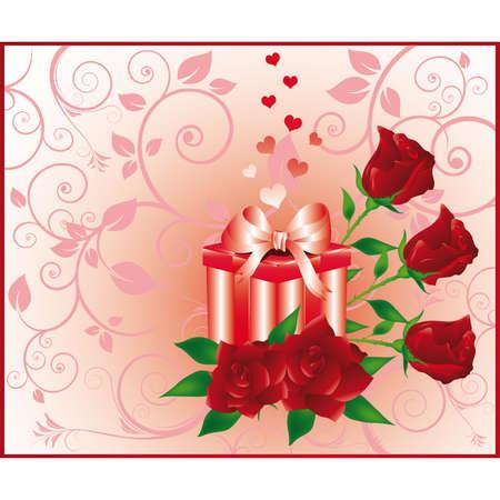 Congratulatory greeting gift card. vector Vector