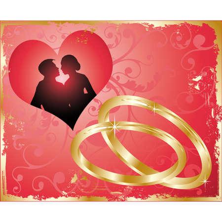 oath: wedding card, vector Illustration