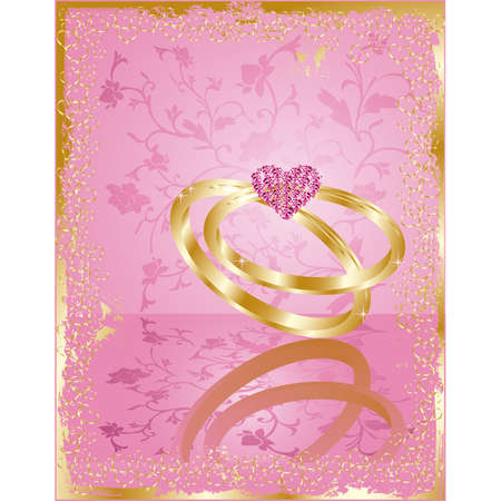 wedding love card, vector Vector