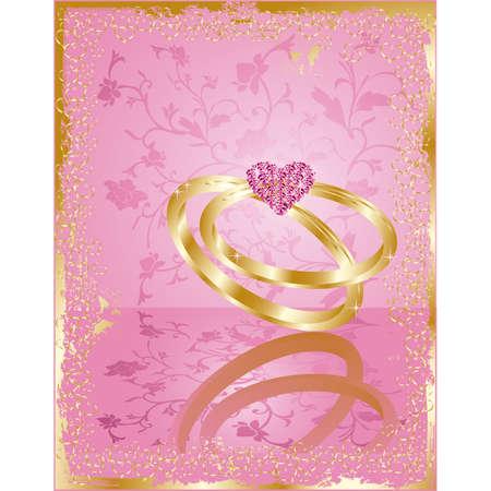 ceremonies: wedding love card, vector