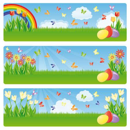 stately: Easter banner Illustration