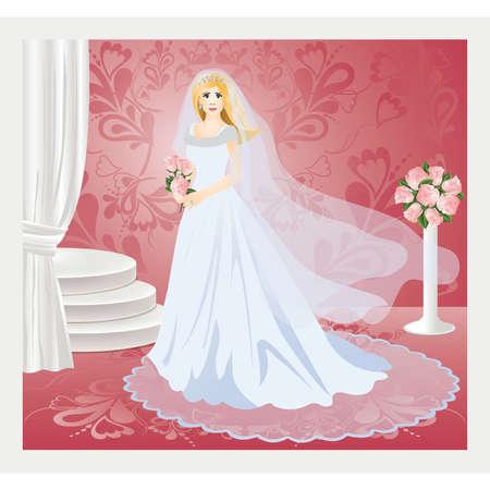 earring: Bride, vector