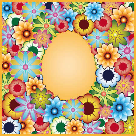 Easter flower background, vector. Vector