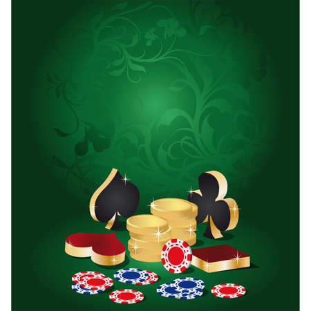 illustration on a casino theme Stock Vector - 6829887