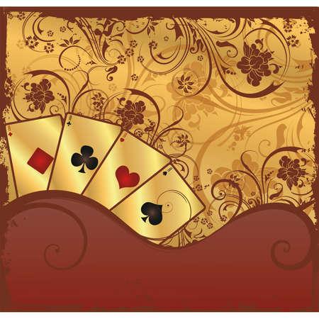 Gambling poker illustration Vector