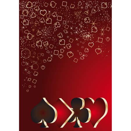 Casino gambling card,  illustration Vector