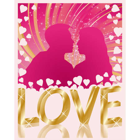 Love greeting card Stock Vector - 7135466