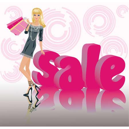glamour shopping: Shopping girl