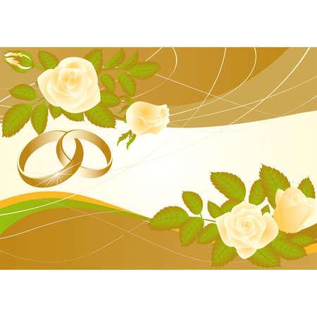 Love wedding card, vector  Vector