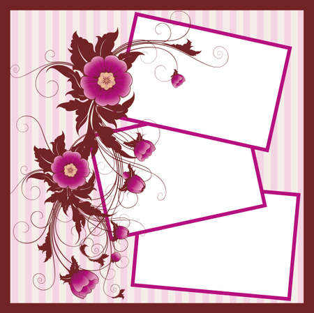 greeting card for 3 photo photo