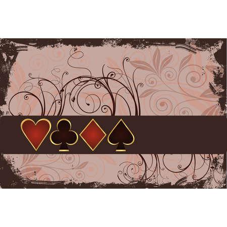 Gambling poker background Stock Vector - 7319717
