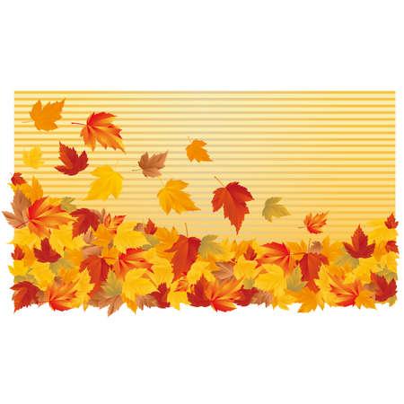 Autumn horizontal wallpaper.  Vector